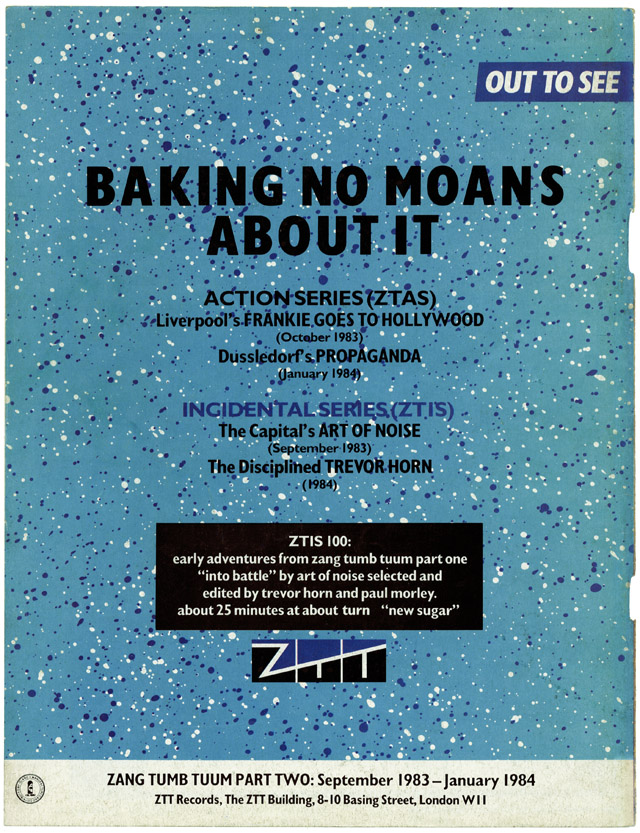 'Baking No Moans About It' - ZTT advert from The Face 10.83