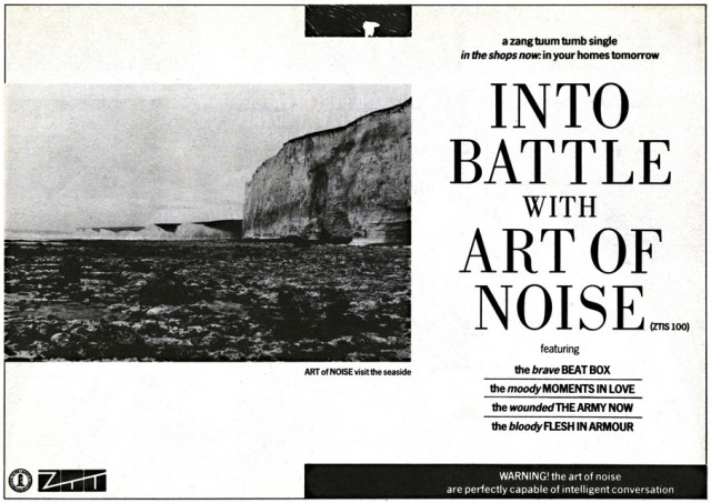 'Into Battle with' Art Of Noise Sounds advert 08.10.83