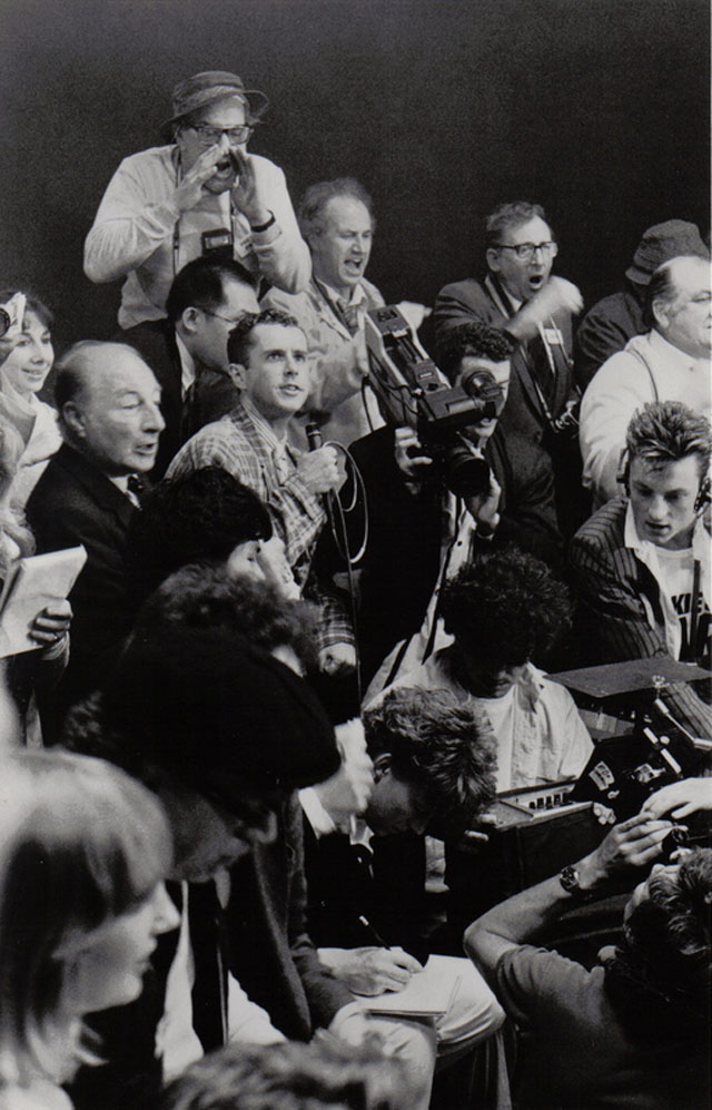 Frankie Goes To Hollywood 'Two Tribes' video shoot by A.J. Barratt