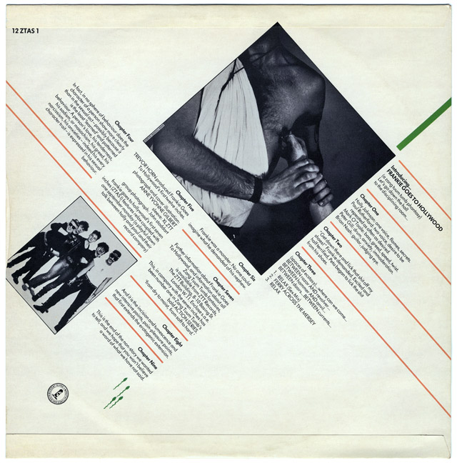 "Frankie Goes To Hollywood 'Relax' 12"" single back cover"