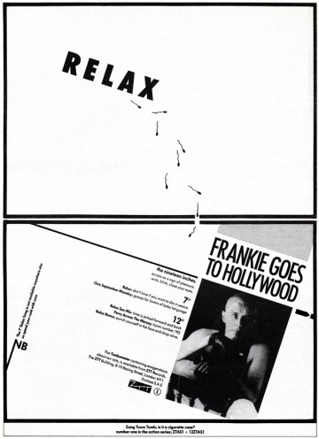 Frankie Goes To Hollywood 'Relax' 1pg NME ad 29.10.83