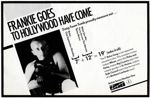 Frankie Goes To Hollywood Relax ad - Smash Hits 27.10 - 9.11.83 / No.1 magazine 29.10.83