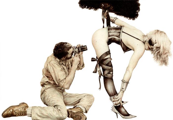 'Soft-Focus' (Men Only illustration) by Yvonne Gilbert