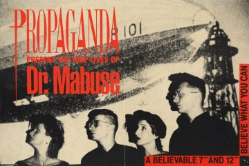 Propaganda 'Dr Mabuse' A3 promo poster