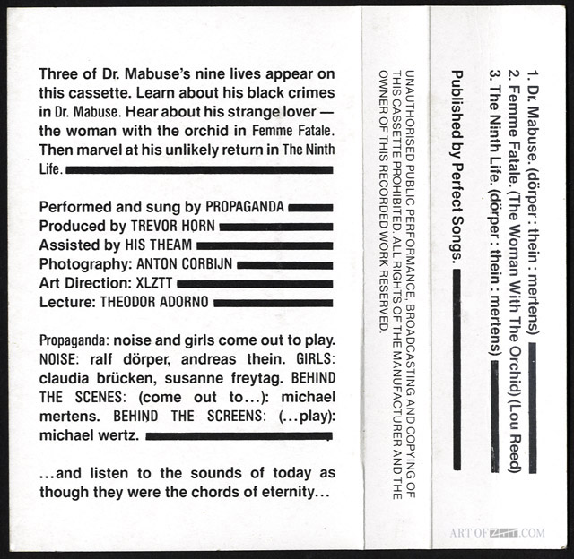 Prop Dr Mabuse CTIS 101 inside cover