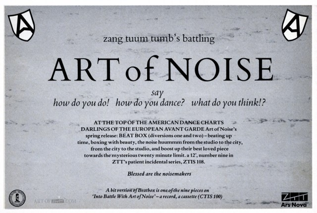 Art Of Noise 'Beatbox' advert The Face 04.84
