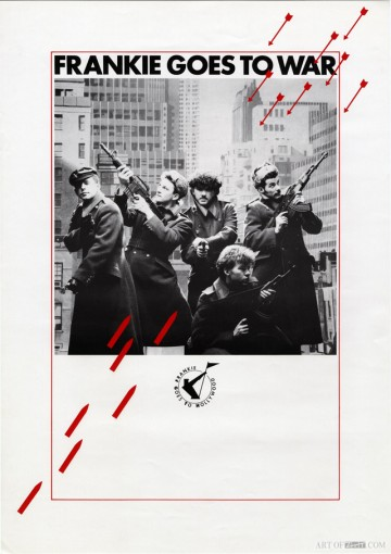 Frankie Goes To Hollywood 'Two Tribes' Frankie Goes To War promo poster
