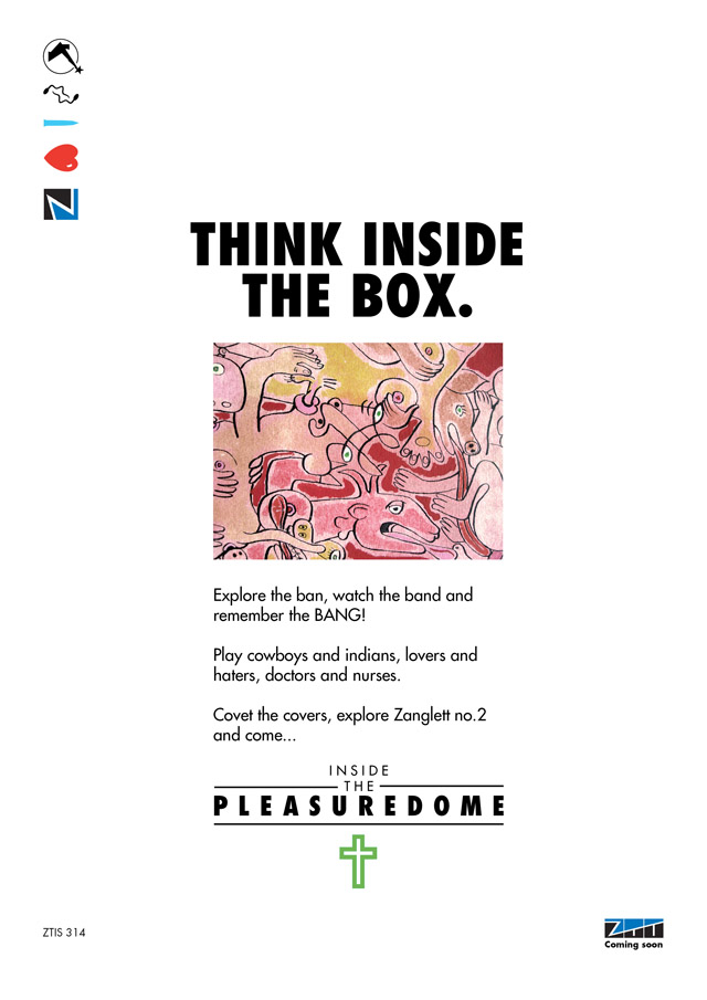 Frankie Goes To Hoillywood 'Inside the Pleasuredome' teaser ad 05.14