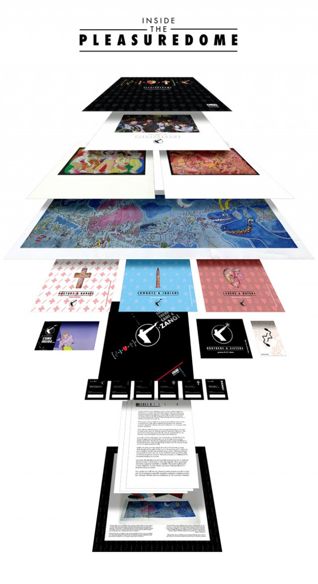 Frankie Goes To Hollywood 'Inside The Pleasuredome' box set elements exploded (not final designs)