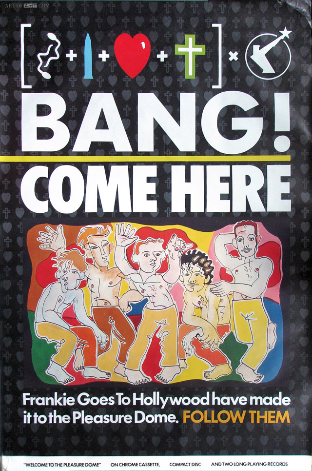 'BANG! Come Here' Welcome To The Pleasuredome Promo flyposter 11.84