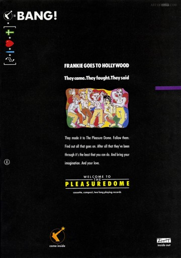 Welcome To The Pleasuredome No.1 advert 03.11.84