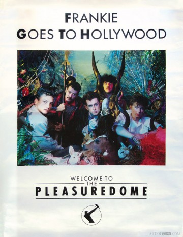Frankie Goes To Hollywood 'Welcome To The Pleasuredome' album promo poster