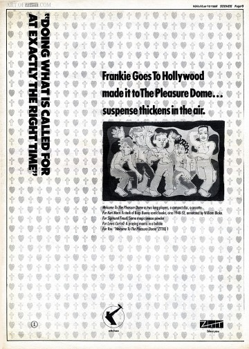 Welcome To The Pleasuredome Sounds advert 10.11.84